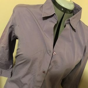Old Navy purple 3/4 sleeve stretch button down